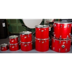 70's B/O Ludwig 7 piece Concert Drum Kit in Red Silk UDH96