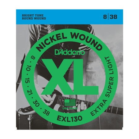 D'Addario EXL130 Electric Guitar Strings X-Super Light .008 - .038