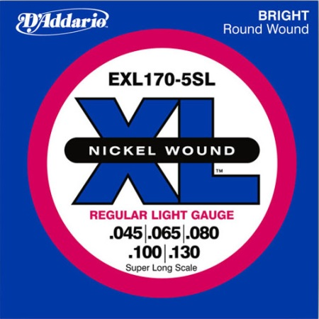 D'addario 5 string bass - super long scale EXL170-5SL