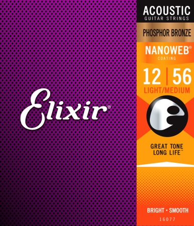 Elixir Phos. Bronze Light-Med. .012-.056 16077