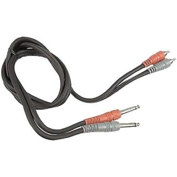 Hosa Dual Rca Plugs To 1/4 Plugs - 6.6' CPR202