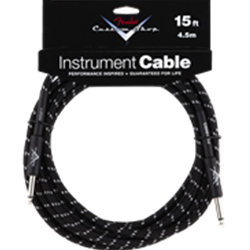 Fender® Custom Shop Performance Series Cable, 15', Black Tweed 0990820051