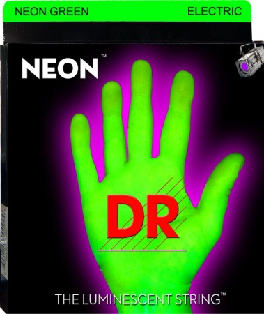 DR HiDef NEON Green bass guitar strings NGB