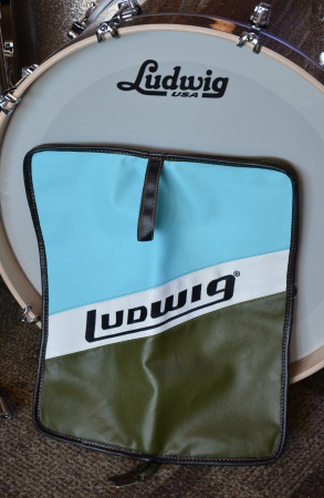 Ludwig Blue & Olive Badge Heirloom Stick Drum Bag LX31BO