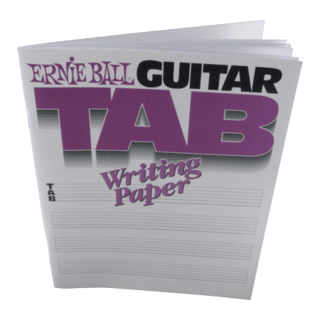 Ernie Ball Inc. - Guitar Tab Writing Paper