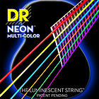 DR NEON Hi-Def MULTI-COLOR Acoustic Strings NMCA-12
