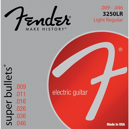 Fender 3250LR Nickel-Plated Steel Bullet-End Electric Guitar Strings - Light Regular