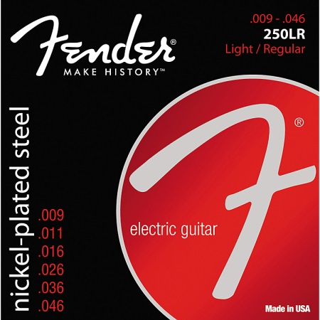 Fender 250LR Super 250 Nickel-Plated Steel Electric Strings - Light/Regular
