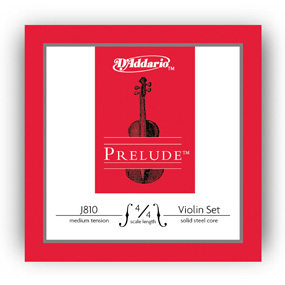 D'Addario Prelude 4/4 Vioiln Strings Med. Tension J8104/4M
