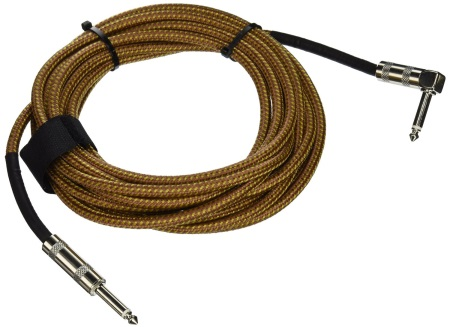 Hosa Tweed Cloth Guitar Cable w/RA end GTR-518R