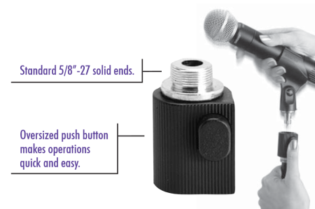On-stage On Stage Quick Release Microphone Adapter QK-10B