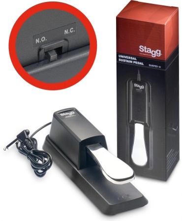 Stagg Keyboard Sustain Pedal - Piano Style - Universal SUSPED10