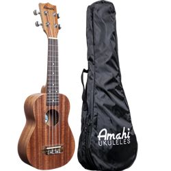 Amahi Soprano Uke with vinyl bag UK120W