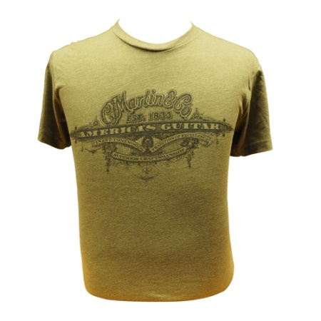 "Martin ""America's Guitar"" Military Green T Shirts 18CM0107"
