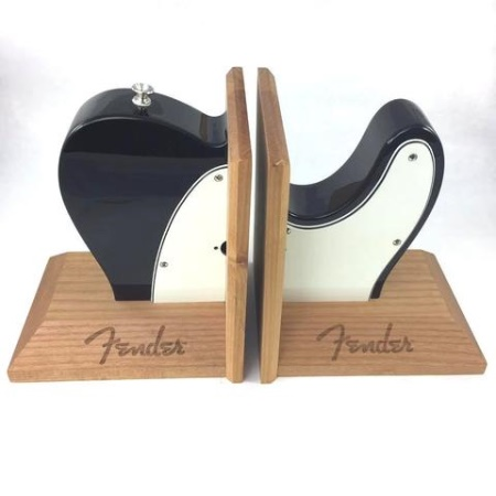 Fender® Tele Body Bookends, Black 9124784000