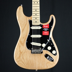 Fender American Professional Stratocaster, Natural Ash Body Electric Guitar & Hard Case 0113012721