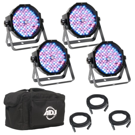 American DJ LED Mega Flat Pak Plus - 4 Light System MEG555