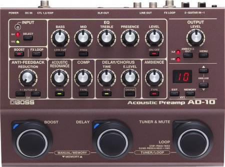 BOSS AD-10 Acoustic Preamp AD10