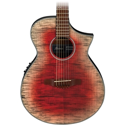 Ibanez AEW Acoustic Electric Guitar - Glacier Red Gloss AEWC32FM-GRD