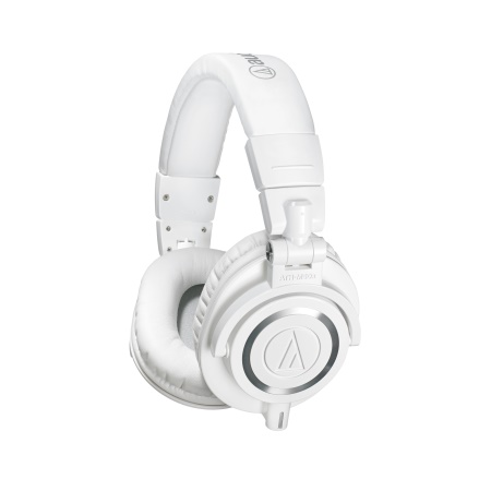 Audio Technica ATH-M50X Closed Back Headphones in White ATH-M50XWH