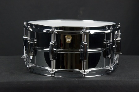 Ludwig Chrome Plated Brass Supraphonic 6.5 x 14 Snare Drum LB402B