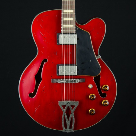 Ibanez Artcore Vintage AFV10ATRL Hollow Body Electric Guitar in Transparent Cherry Red Low Gloss Fih