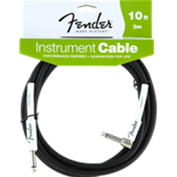 Fender 10' Instrument Cable with RA plug 0990820006