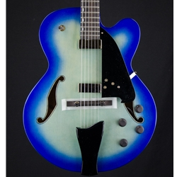 Ibanez AFC Contemporary Archtop Electric Guitar w/Case - Jet Blue Burst AFC155JBB