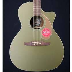 Fender Newporter Player Acoustic electric Guitar,  Olive Satin WN 0970743076