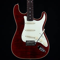 Fender Aerodyne Classic Stratocaster, Flame Maple Top, RW Fingerboard, Crimson Red Transparent 5560052338