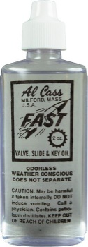 "Al Cass ""Fast"" Valve Slide & Key Oil 1979"
